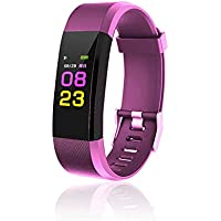 maju SmartFit Fitness Tracker Actividad banda Fitness pulsera corazón–Rastreador de fitness Rosa