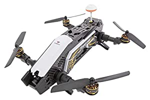 XciteRC 15003860 – FPV Furious 320 F3 RTF Racing Quadcopter Drone with HD Camera, OSD, Battery, Charger and Devo 10 Remote Control – Black from XciteRC