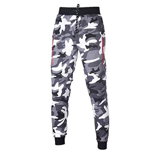 Otoño e Inviern Pantalones De Camuflaje Militar Chándal para...