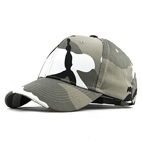 Knowin Kappe Baseball Cap Modische Baseball Mützen Baseballkappe Cap Baumwolle Snapback Hut Unisex Sonnenhut für Damen Männer oder Kinder zum Sport und Reisen -