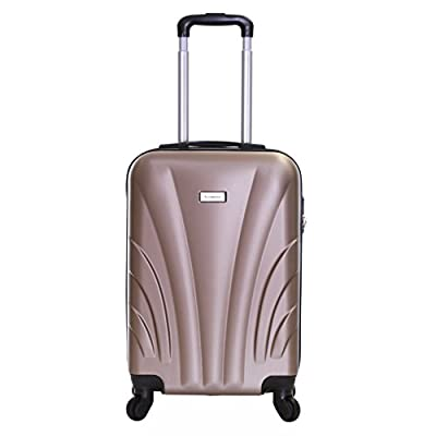 Slimbridge Ferro Super Lightweight ABS Hard Shell Travel Cabin Carry On Hand Luggage Suitcase with 4 Wheels, Approved for Ryanair, EasyJet, British Airways, Virgin Atlantic, Flybe and More - hand-luggage