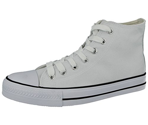 83acec6ace33d Ladies Academy Low Hi Top Canvas Toe Cap Lace Up Pumps Plimsoll All Star  Trainers Casual