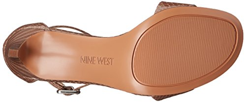 Nine West Meantobe cuir Sandales à talons Light Grey Leather