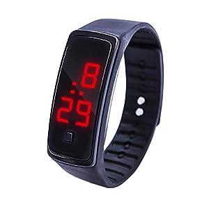 Kinder Armbanduhr KiyomiQvQ Armband Uhren Klassische Silikonarmband Sportuhr Weich und Bequem Analog Quartz Digitaluhren Cool Sport große Anzeige LED Watch Jungen Mädchen Männerarmbanduhr