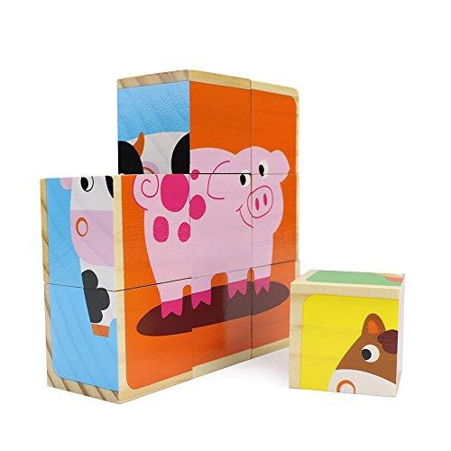Imagination Generation Barnyard Tiere von Professor Pappel Stapeln Puzzle Blocks, 9Teile - Gamecube Tier
