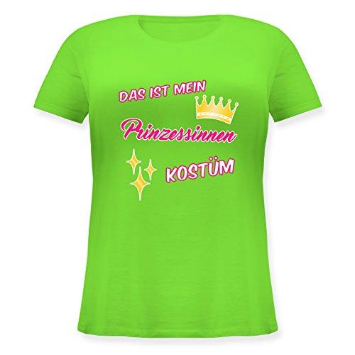 Shirtracer Karneval & Fasching - Das ist Mein Prinzessinnen Kostüm - Lockeres Damen-Shirt in Großen Größen mit Rundhalsausschnitt Hellgrün