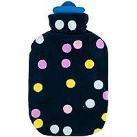 1x Sänger 2 Liter Gummi-Wärmflasche inkl. Softvelourbezug, Wärmeflasche mit Bezug, Nachthimmel, schwarz preisvergleich bei billige-tabletten.eu