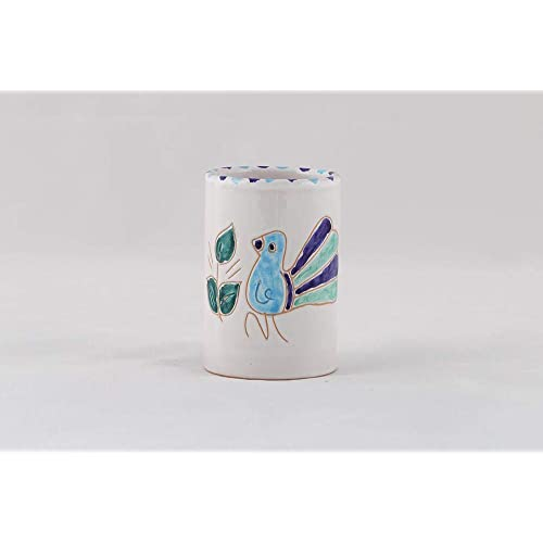 Pavoncella sarda, bicchiere bagno pavoncella turchese