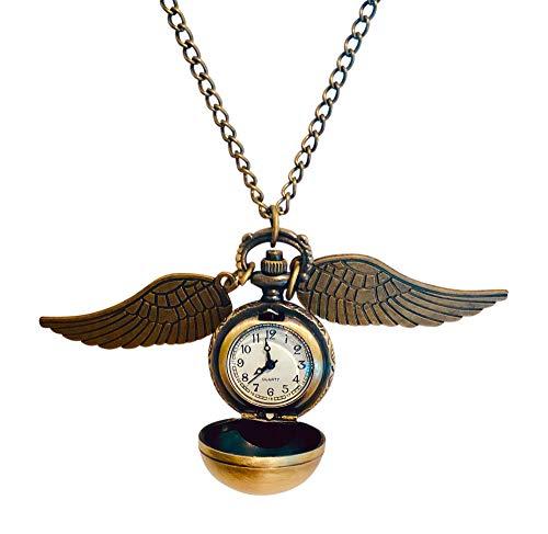 Wizard Magie Film inspiriert Taschen-Uhr mit Flügel