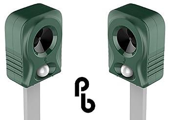 Pack de 2 Répulsifs Chat Ultrasons Pestbye à Piles et Système de Fréquences à Hyper Sonorité