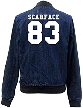 Scareface 83 Bomber Chaqueta Girls Jeans Certified Freak