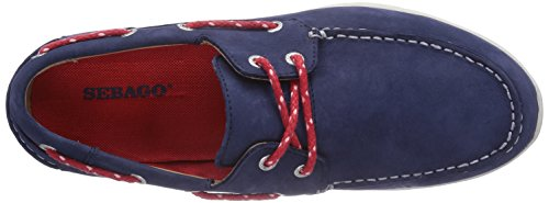 Sebago KINSLEY TWO EYE Herren Bootsschuhe Blau (NAVY NUBUCK)