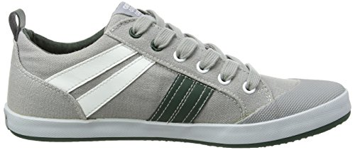Geox Jr Kiwi I, Sneakers Basses garçon multicolore (Multicolor (Grey / Green))