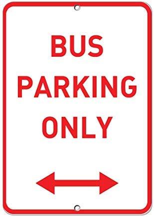 Vivityobert Parkplatzschild mit Pfeil aus Aluminium und Metall, Warnschilder für Haus 300 mm x 200 mm