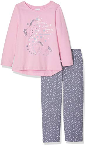 Sanetta Mädchen Pyjama Long Zweiteiliger Schlafanzug, Pink (Lilac Chiffon 3928.0), 104