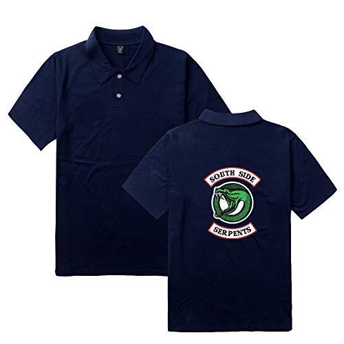 Riverdale Southside Serpents Mustern T-Shirt Polo Kurzarm Sport Shirt Unisex Herren Damen Tee Tops T-Shirt ()