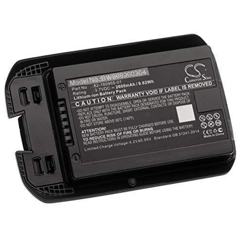 vhbw Akku Ersatz für Motorola/Symbol 82-160955-01 für Handheld Computer Scanner (2600mAh, 3.7V, Li-Ion)