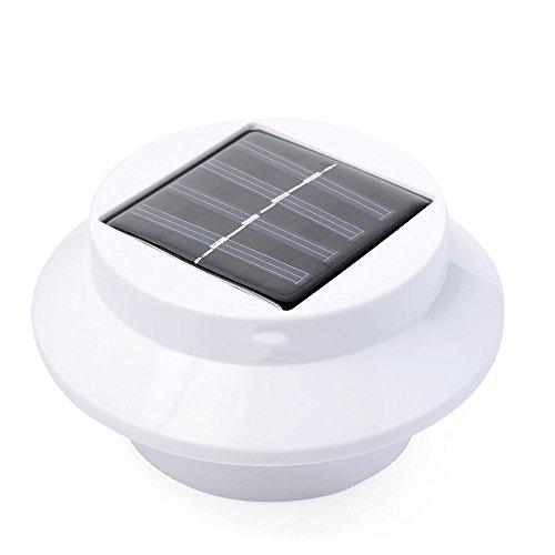 PU Lifestyle Intelligente Solar Powered Auffahrt Weg Garten und Gosse (3Pack), weiß (Solarbetriebene Camping-ausrüstung)