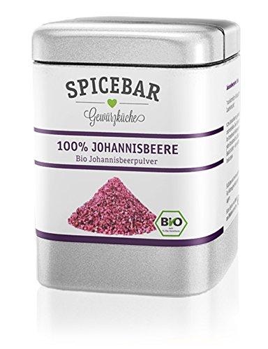 Johannisbeerpulver, Fruchtpulver gefriergetrocknet aus 100% Johannisbeere / Cassis, Bio (1 x 60g)