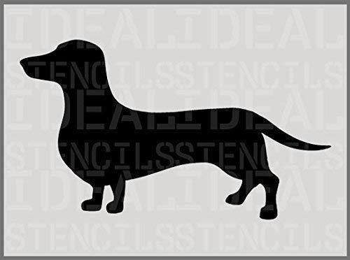 hund Schablone, Hund Silhouette Schablone, Heim Dekor Kunst Malerei - A4(S)15 x 26CM /5.9 x 10.2 ()