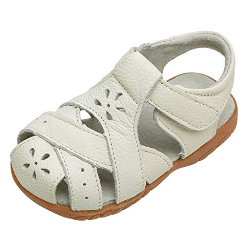 Pingtr - Kind Schuhe Prinzessin Sandalen für Mädchen - Kindermädchen hohl Baotou Lederschuhe atmungsaktiv Freizeitschuhe Sandalen