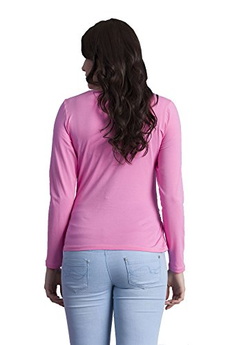 Best Mom Ever - Witzige süße Umstandsmode T-Shirt mit Motiv Schwangerschaft, Langarm Rosa
