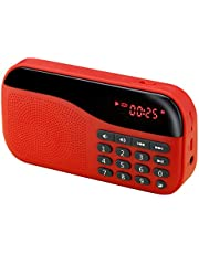 Portronics POR-143 Plugs Portable Speaker with FM & MicroSD card Support (Red)