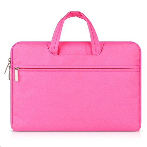G7Explorer Water-resistant Laptop Sleeve Case Bag Portable Computer handbag For Apple Macbook Pro and other Notebook 15.4 inches Pink
