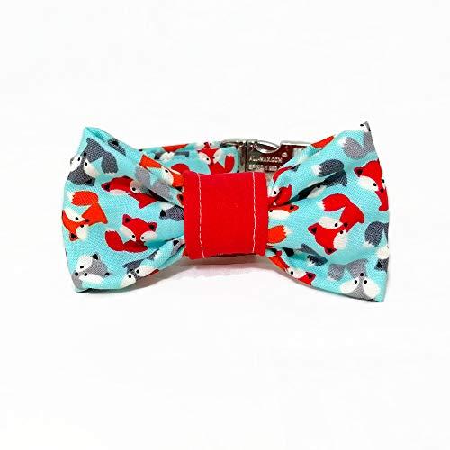 Hundehalsband mit Fliege/Schleife - Fuchs -