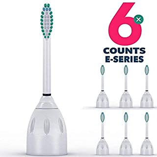 United Medicals Philips Sonicare E Series Toothbrush Head Replacement (Pack of 6)