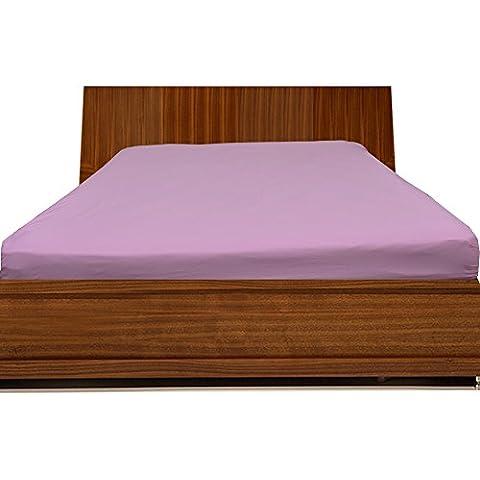 300TC 100% cotone egiziano solido elegante finitura 1lenzuolo (Pocket Size: 10cm), Cotone, Pink Solid, (Harrison Bed Set)