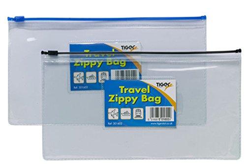 5Stück DL Größe Travel Zippy Tasche–Klar, Kunststoff Datei Aufbewahrung Dokumententasche (Organizer Zippy)