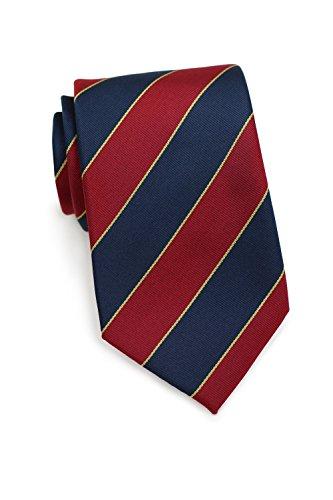 PARSLEY Herrenkrawatte, Britischer Klassiker, Regiments-Krawatte, Gestreift Rot / Blau, 100% Seide, 8,5 cm, Handarbeit, Büro & Alltag, Business Tie (Streifen-krawatte Britische)