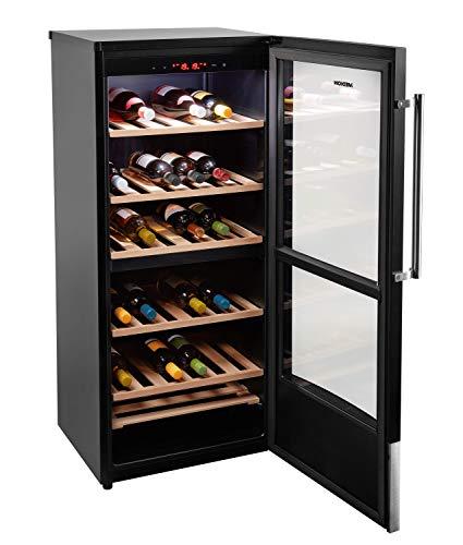 MEDION MD 37104 Weinkühlschrank (181L Fassungsvermögen, LED-Display, regulierbare Temperatur...