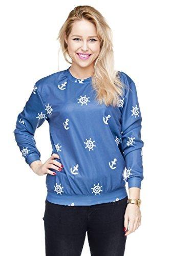 Funny Sweatshirts Company© Imprimé 3D Sweat-shirt Impression/Motif/Conception Taille Unique Unisexe Printemps Été 2017 WHITE TROPICAL 30826