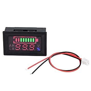 Digital Voltmeter Meter, 6-80V LED Dual Display Voltmeter Prozentsatz Digital Voltage Power Meter für Auto Motorrad Spannung Volt Meter