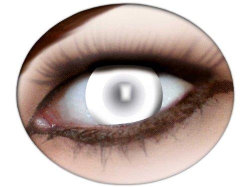 Rey Loco farbige Kontaktlinsen Fun Linsen Halloween Karneval Fasching Party Glasbehälter, wählen:blind white m21
