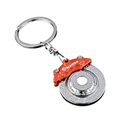 Idea Regalo - Kentop portachiavi in metallo Key Ring auto portachiavi con freno a disco auto ciondolo