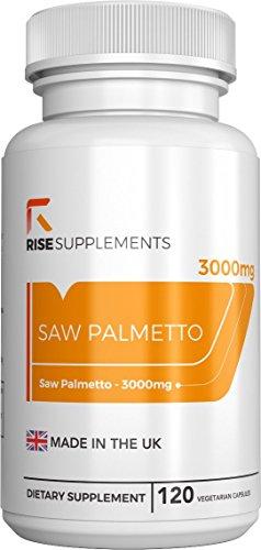 Sägepalmenextrakt 20:1 mit Zink Äquivalent von 3000 mg pro Kapsel | Für die reproduktive Gesundheit von Männern | 120 vegetarische Kapseln | Aus ISO-zertifizierten Betrieben in GB (1 Flasche)