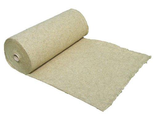 Tapis de protection contre les mauvaises herbes en fibre de chanvre, vendu au mètre (EUR 10,78 /m²), 1200g/m², 0,5 x 5 m, env. 1 cm d'épaisseur, tapis de protection des plantes, tapis de protection pour l'hiver, tapis de revêtement à base de compost, 100 % biodégradable, qualité des aliments