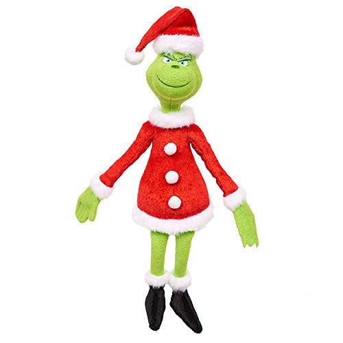 Figur Kostüm Grinch - ZS-Juyi The Young Grinch Sieht entzückend aus in seinem roten und weißen Schal aus dem Film und verfügt über luxuriöse Stickereien für Kinder und Sammler.
