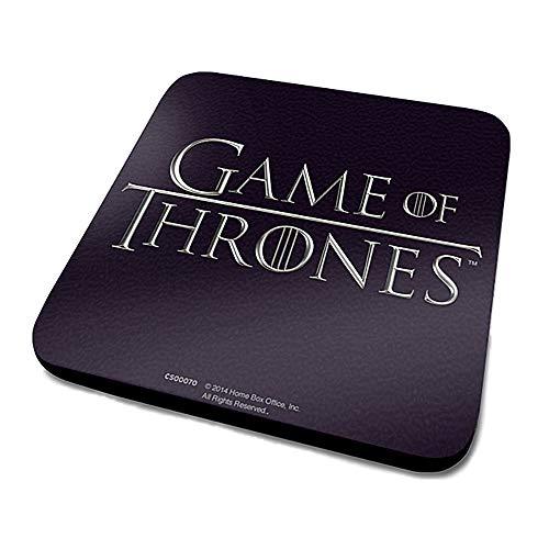 HBO - Posavasos con logotipo de Game of Thrones (juego de tronos, para TV, diseño de Stark Lannister)