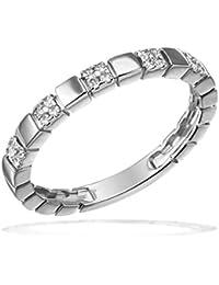 Goldmaid Damen-Ring 585 Weißgold Diamant (0.13 ct) weiß Brillantschliff - Pa R7680WG