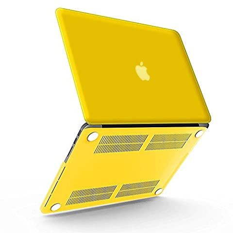 iBenzer - Soft-Skin Smooth Finish Plastic Hard Case Cover for Macbook Pro 13.3'' with Retina Display (A1502 / A1425) NO CD-ROM, Yellow