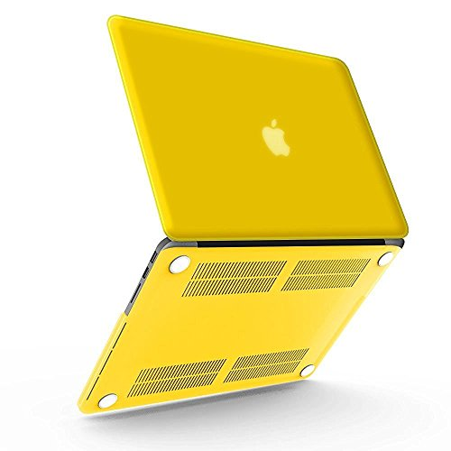 41WUY96lgZL BEST BUY #1iBenzer   Soft Skin Smooth Finish Plastic Hard Case Cover for Macbook Pro 13.3 with Retina Display (A1502 / A1425) NO CD ROM, Yellow UK MMP13R YW price Reviews