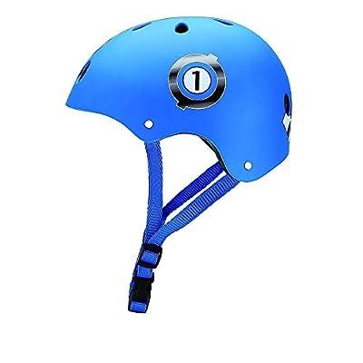 Globber Junior Print Racing Schutzhelm Jungen, blau, XXS (48–51cm)