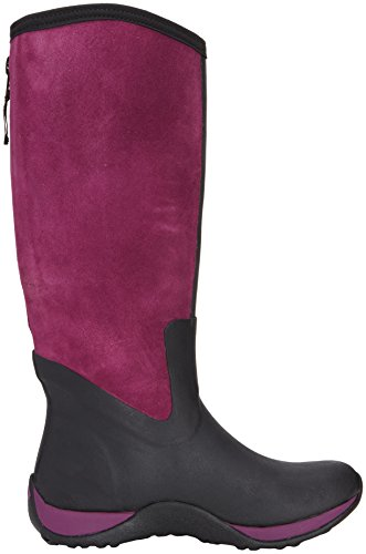 Muck Boots Arctic Adventure Zip Suede, Stivale da Donna Nero (Black/Purple)
