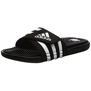 adidas Adissage, Men's Beach & Pool Shoes, Black - Schwarz (Black/Black/Running White Ftw), 9 UK