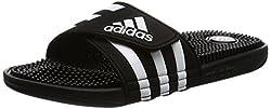 Adidas Adissage, Herren Dusch- & Badeschuhe, Schwarz (Blackblackrunning White Ftw), 42 Eu (8 Herren Uk)