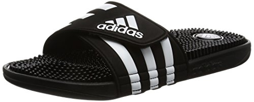 adidas Adissage, Herren Dusch- & Badeschuhe, Schwarz (Black/Black/Running White Ftw), 50 EU (14 Herren UK)